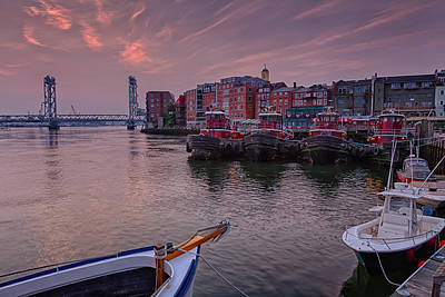 Photograph - Tugboats Portsmouth New Hampshire by Jeff Sinon
