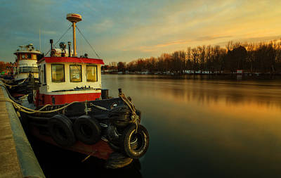 Tugboat Photograph - Tugs At Sunrise by Everet Regal