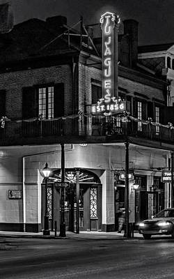 Night Scenes Photograph - Tujague's 2 Monochrome by Steve Harrington