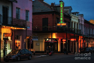 Photograph - Tujagues At Night In New Orleans by Kathleen K Parker