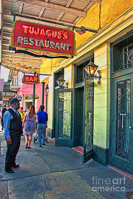 Photograph - Tujagues Restaurant French Quarter New Orleans by Kathleen K Parker