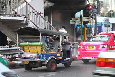 Tuk Tuk - City Life - Bangkok Thailand - 01131 Art Print by DC Photographer
