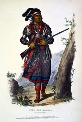 Fringe Jacket Photograph - Tuko-see-mathla, Seminole Chief by Everett
