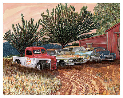 Painting - Tularosa Motors by Jack Pumphrey