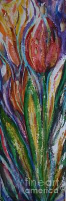 Painting - Tulip Abstract by Kathleen Pio