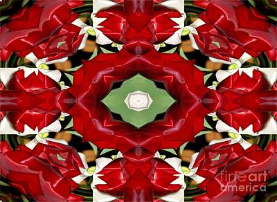 Photograph - Tulip And Easter Lily Abstract 2 by Rose Santuci-Sofranko