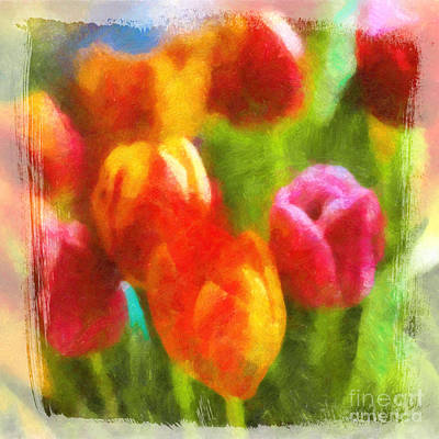 Painting - Tulip Art by Lutz Baar