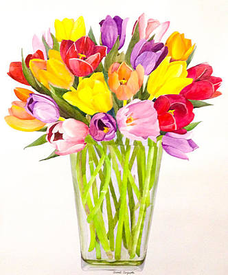 Painting - Tulip Bunch by Sonali Sengupta
