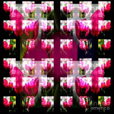 Painting - Tulip Collage by Barbara Moignard