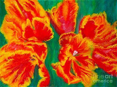 Painting - Tulip Days by Tracey Peer