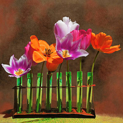 Fruits And Vegetables Still Life - Tulip Experiments by Jeff Burgess