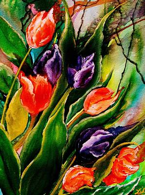 Painting - Tulip Explosion by Lil Taylor