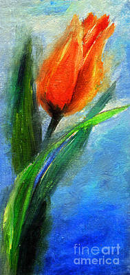 Painting - Tulip - Flower For You by Daliana Pacuraru