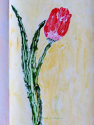 Declaration Of Love Painting - Tulip For You by Sonali Gangane