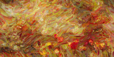 Tulip Garden Abstract Art Print by Kenny Francis