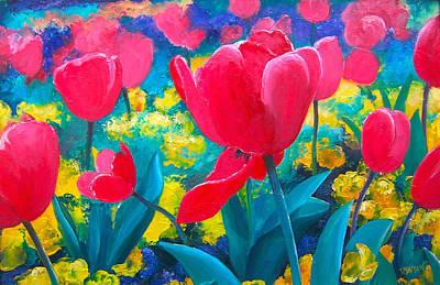 Flowers Painting - Tulip Garden by Jan Matson