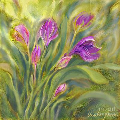 Digital Art - Tulip Garden by Ursula Freer