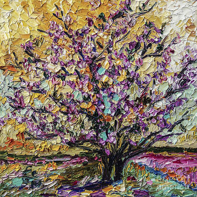 Ginette Impressionism Painting - Tulip Magnolia Tree by Ginette Callaway