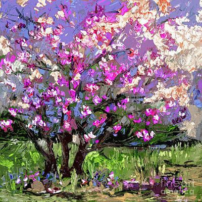 Ginette Impressionism Painting - Tulip Magnolia Tree Modern Impressionist Art by Ginette Callaway