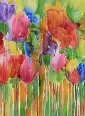 Skagit Painting - Tulip Palooza by Rhonda Leonard