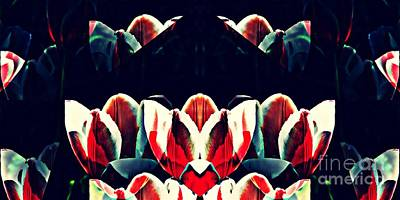 Digital Art - Tulip Panorama by Sarah Loft