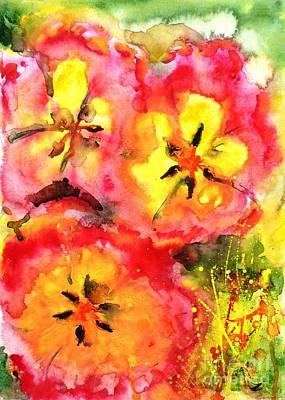 Painting - Tulip Splash by Zaira Dzhaubaeva