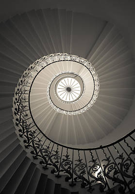 Tulip Stairs From Below Art Print