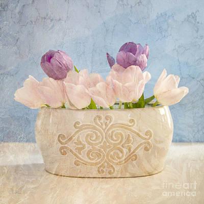 Floral Arrangement Digital Art - Tulip Still Life by Betty LaRue