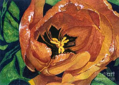 Art Print featuring the painting Tulip Swirl by Barbara Jewell