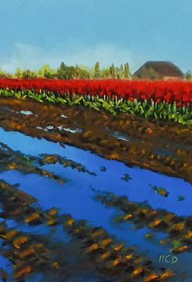 Tulip Tracks Original by Marie-Claire Dole