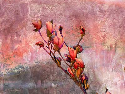 Digital Art - Tulip Tree Budding by J Larry Walker