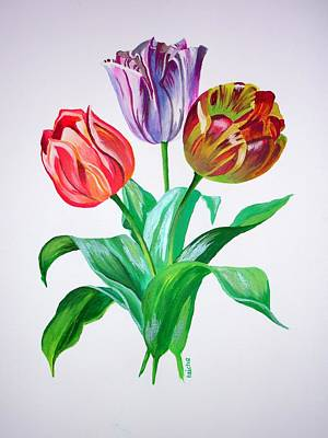 Painting - Tulip Trio by Tracey Harrington-Simpson