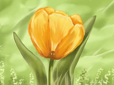 Tulip Art Print by Veronica Minozzi