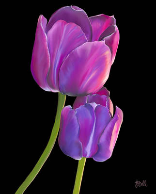 Tulips Painting - Tulips 2 by Laura Bell