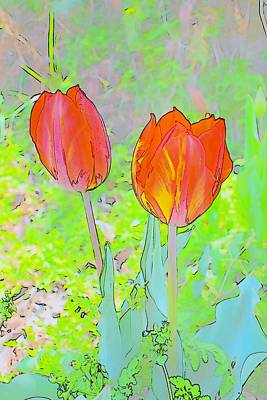 Photograph - Tulips In Pastels 2 by Kim Bemis