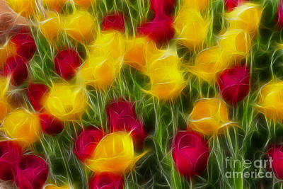 Tulips-7106-fractal Art Print by Gary Gingrich Galleries