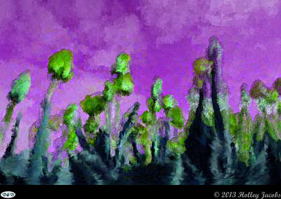 Digital Art - Tulips Abour Purple by Holley Jacobs
