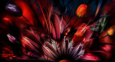 Photograph - Tulips Abstrackt by Radoslav Nedelchev