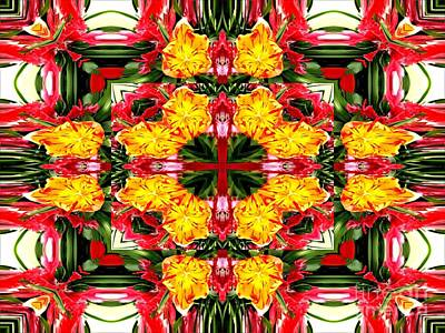 Photograph - Tulips Abstract Warp by Rose Santuci-Sofranko