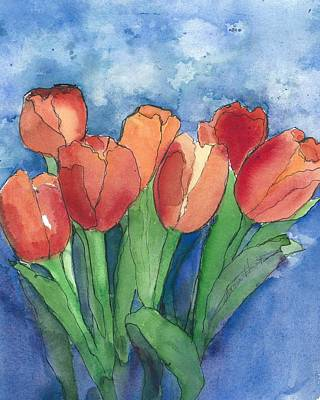 Tulips After The Rain Original by Maria Hunt