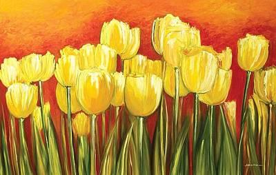 Tulips Art Print by Ahmed Amir