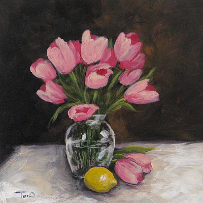 Painting - Tulips And Lemon by Torrie Smiley