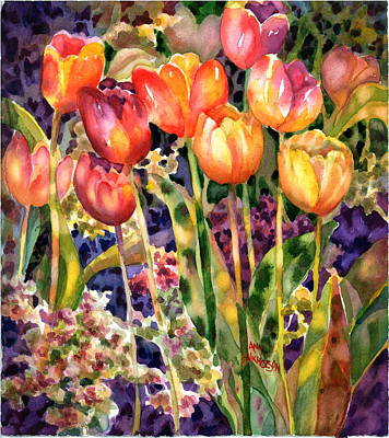 Painting - Tulips by Ann  Nicholson