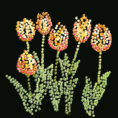 Digital Art - Tulips Bedazzled by R  Allen Swezey