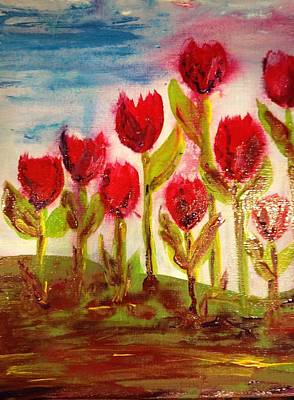 Painting - Tulips by Bobbin
