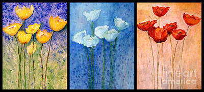 Painting - Tulips Collage  by Ed Churchill