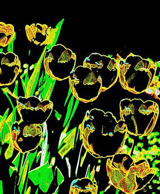 Pathway Digital Art - Tulips by Candice Floyd