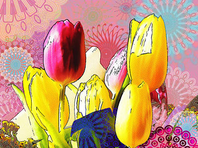 Tulips Print by Christo Christov