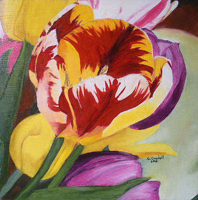 Painting - Tulips by Claudia Goodell