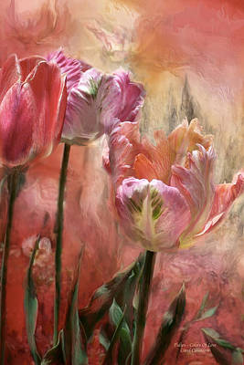 Parrot Art Mixed Media - Tulips - Colors Of Love by Carol Cavalaris